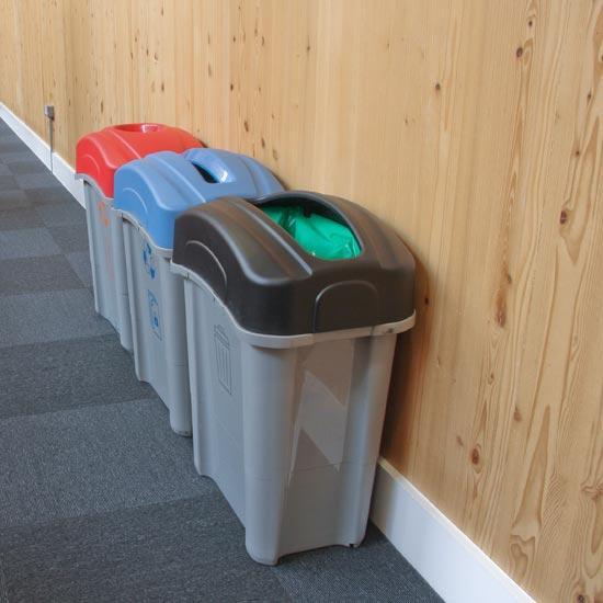Коридорные урны для раздельного мусора ECO NEXUS 60 литров