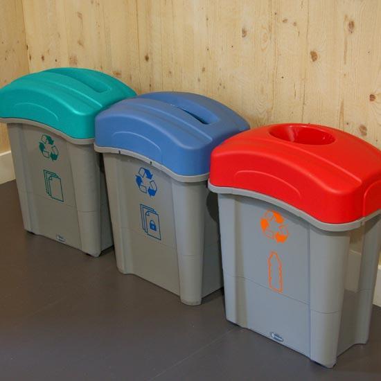 Пластиковые мусорные урны для коридора раздельный сбор Eco Nexus 60