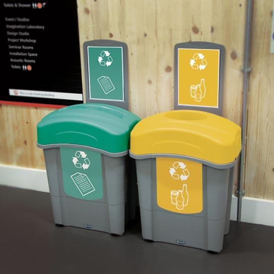 Раздельные урны для мусора в коридор Eco Nexus 60 Glasdon