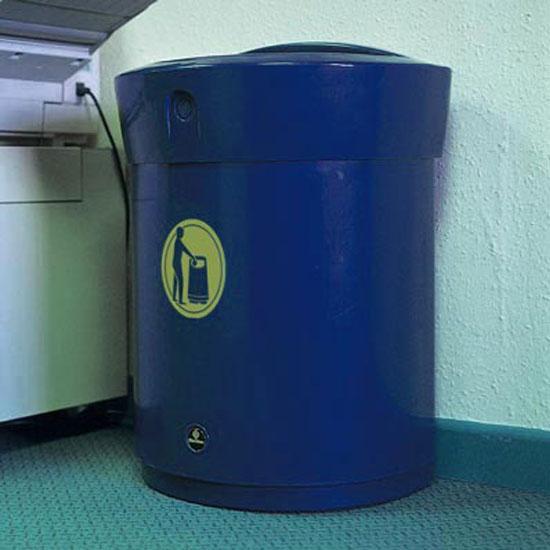 Синяя урна для мусора ENVOY 90