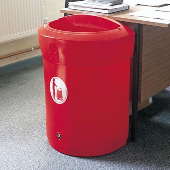 Офисная урна красного цвета ENVOY 90
