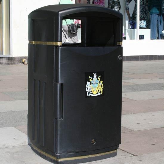 Мусорная урна с логотипом прямоугольная закрытая GLADON Англия