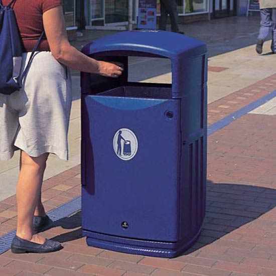 урна уличная прямоугольная для мусора 120 литров