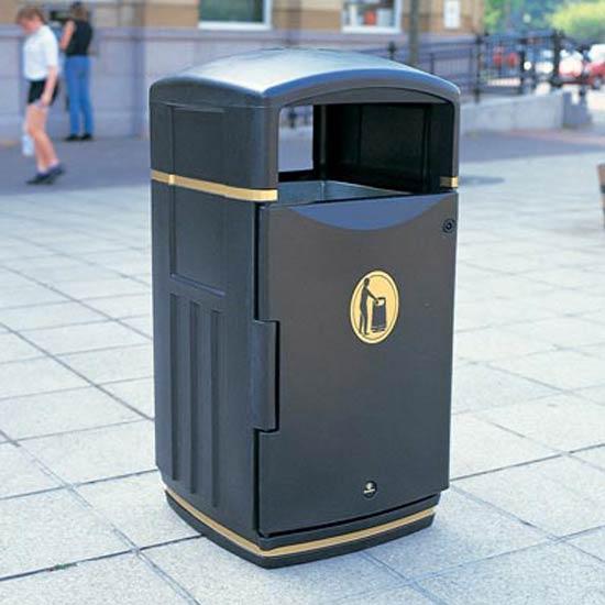 урна прямоугольная для сбора мусора на открытых пространствах FUTURO