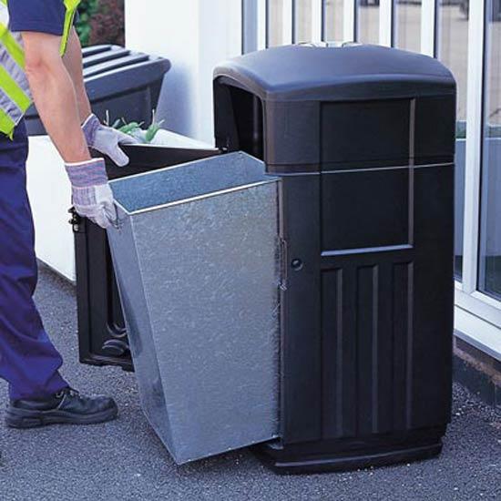 Урна с прямоугольным внутренним мусорным баком GLASDON FUTURO