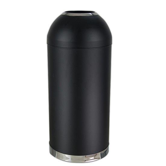 Внутренняя черная цилиндрическая мусорная урна для гостиниц