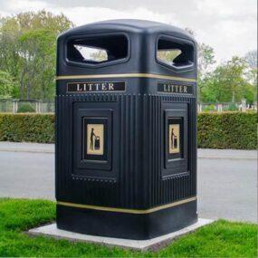 Высокая уличная урна контейнер для мусора 240 литров