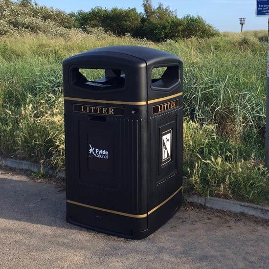 Урна для мусора 240 литров уличная 1,5 метра