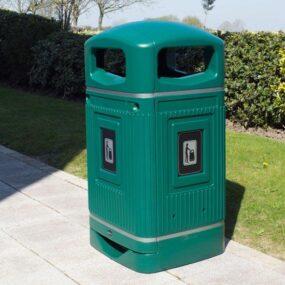 антивандальные уличные мусорные урны Glasdon Jubilee