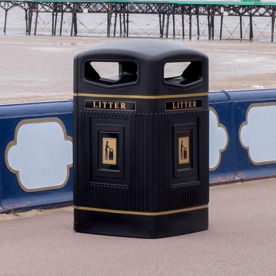 Урна уличная квадратная 240 литров Glasdon Англия