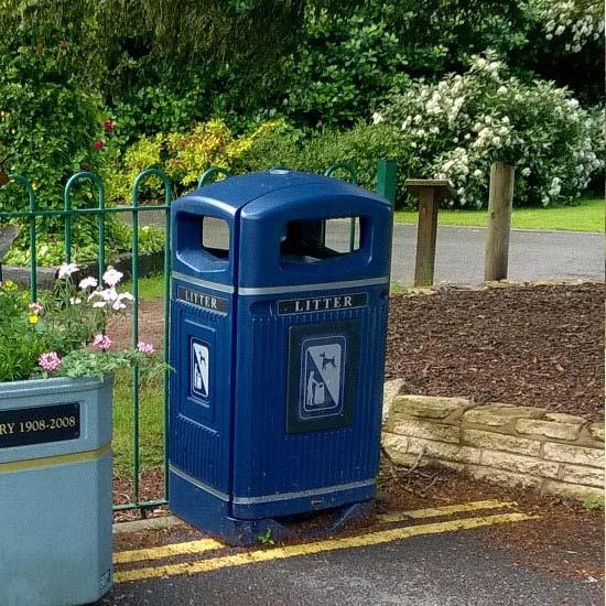 Антивандальная городская урна на 110 литров мусора
