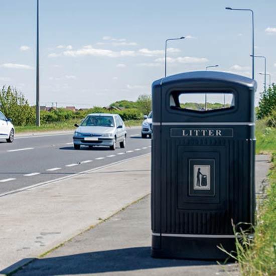 Контейнер для улиц на 240 литров закрытый