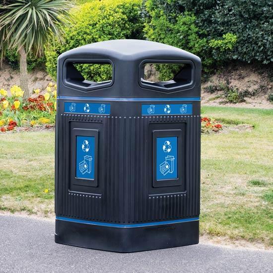 Уличный мусорный контейнер 240 литров Glasdon Англия