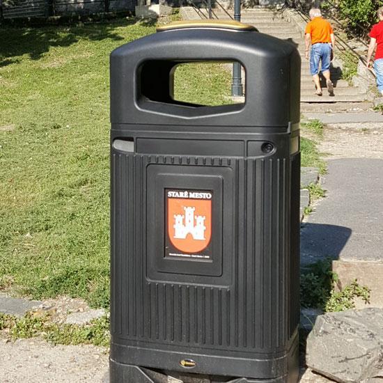Английская уличная урна для мусора