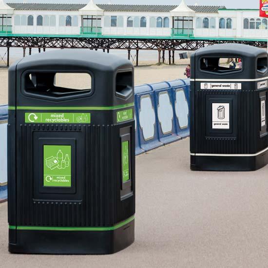 Уличные мусорные контейнеры на 240 литров Jubilee