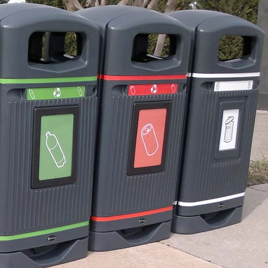 мусорные урны для раздельного сбора 110 литров уличные