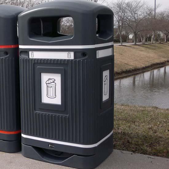 урна для общего мусора уличная 110 литров
