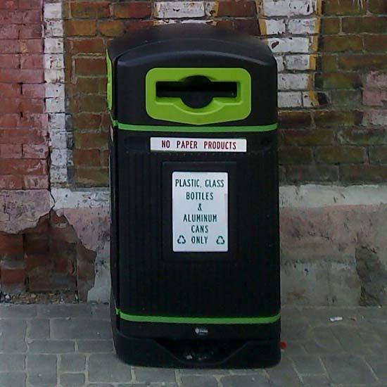 Урна с логотипом для уличного сбора перерабатываемого мусора Jubilee