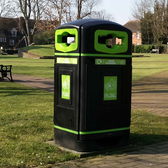 Уличная урна для смешанного мусора для переработки Jubilee Glasdon