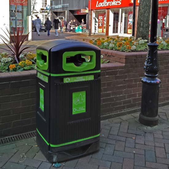 Мусорная урна для сбора смешанного мусора 110 литров