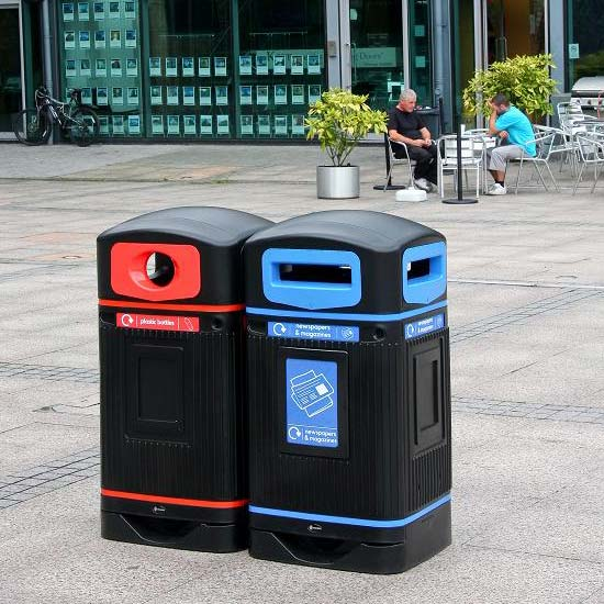 Урны на улицу для бумаги и пластиковых бутылок Glasdon Jubilee