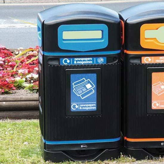 мусорная урна для бумаги с закрытым верхом Jubilee 110 литров