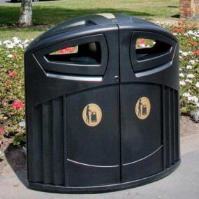 мусорная урна уличная большая на 200 литров
