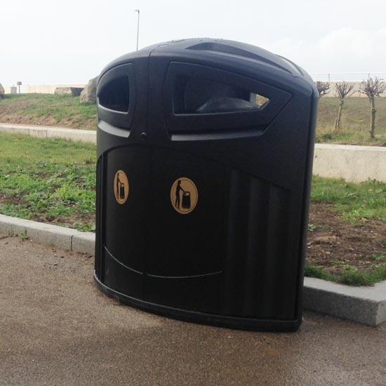 Мусорная урна для улицы Glasdon Nexus 200 литров