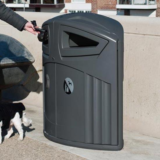 Урна для мусора уличная 200 литров двухсекционная