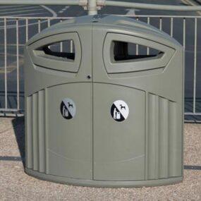 Урна двухсекционная уличная для мусора