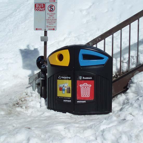 Уличная урна под раздельный сбора мусора NEXUS 200 литров