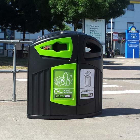 Уличная большая урна контейнер для раздельного сбора мусора 200 литров