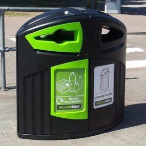 Уличная урна под 2 раздельных вида мусора 200 литров