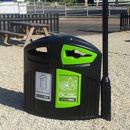 мусорная урна для общего и перерабатываемого мусора уличная 200 литров