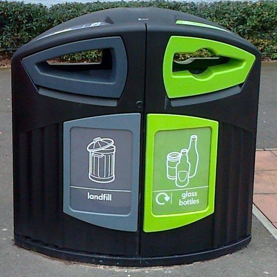 Урна под раздельный сбор мусора на улице Glasdon Nexus