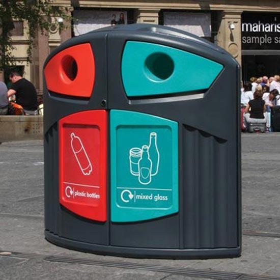 Уличная урна для пластика и стекла