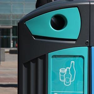 Уличные урны для стеклянных и пластиковых бутылок Nexus 200