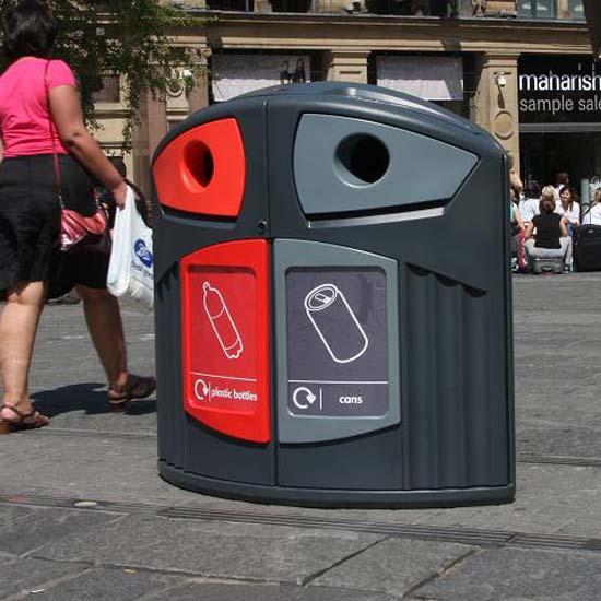 Урна Nexus 200 уличная для пластика и алюминиевых банок
