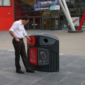 Урна уличная для сбора пластиковых и алюминиевых банок 200 литров
