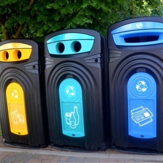 Уличные мусорные Контейнеры под раздельный мусор Glasdon NEXUS 360