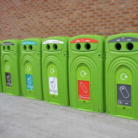 Уличные контейнеры под мусор закрытые ударопрочные Glasdon NEXUS 360 литров