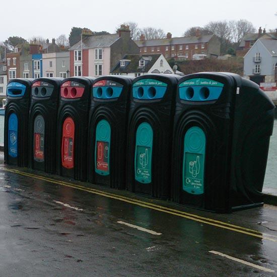 Уличные мусорные контейнеры для раздельного сбора 360 литров NEXUS GLASDON