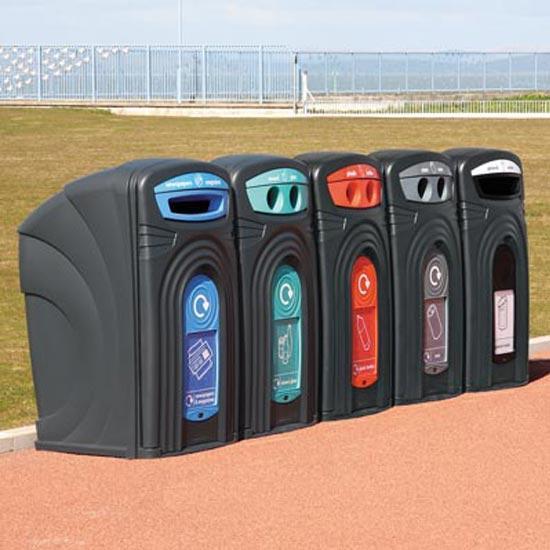 Уличные контейнеры для раздельного сбора мусора Glasdin NEXUS 360
