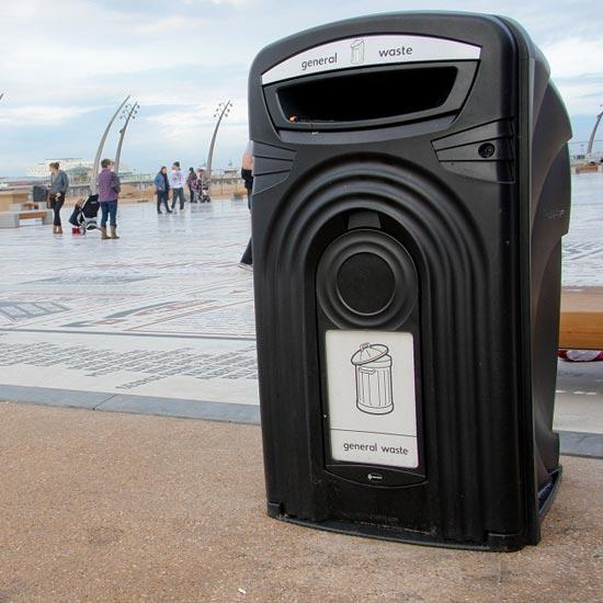 Уличный контейнер ударопрочный 360 литров с замком Glasdin NEXUS 360