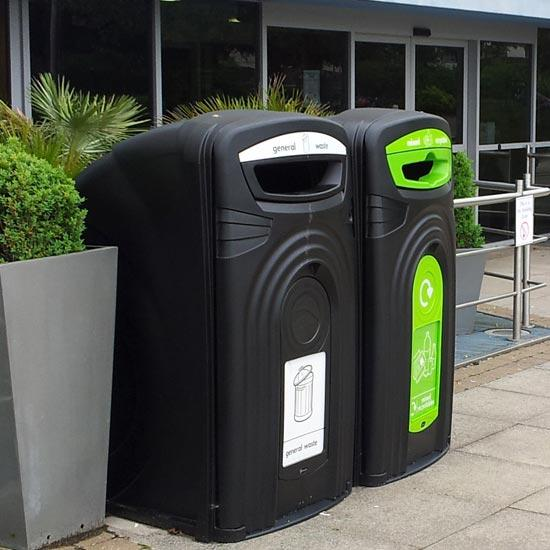 Уличная урна - контейнер для мусора на 360 литров Англия Glasdon