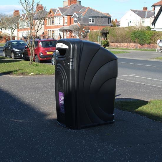 Корпус-контейнер для мусора на 360 литров уличный антивандальный Glasdon Nexus