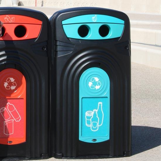 Уличный контейнер для сбора стеклянных бутылок Nexus 360