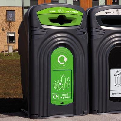 Уличный контейнер для раздельного сбора мусора 360 литров Glasdon Nexus