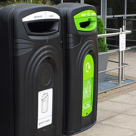Контейнер для раздельного сбора мусора на улице Nexus 360 литров Glasdon