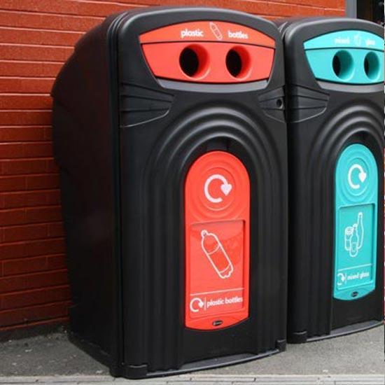 Уличный мусорный контейнер для пластика Nexus 360 PLASTIC